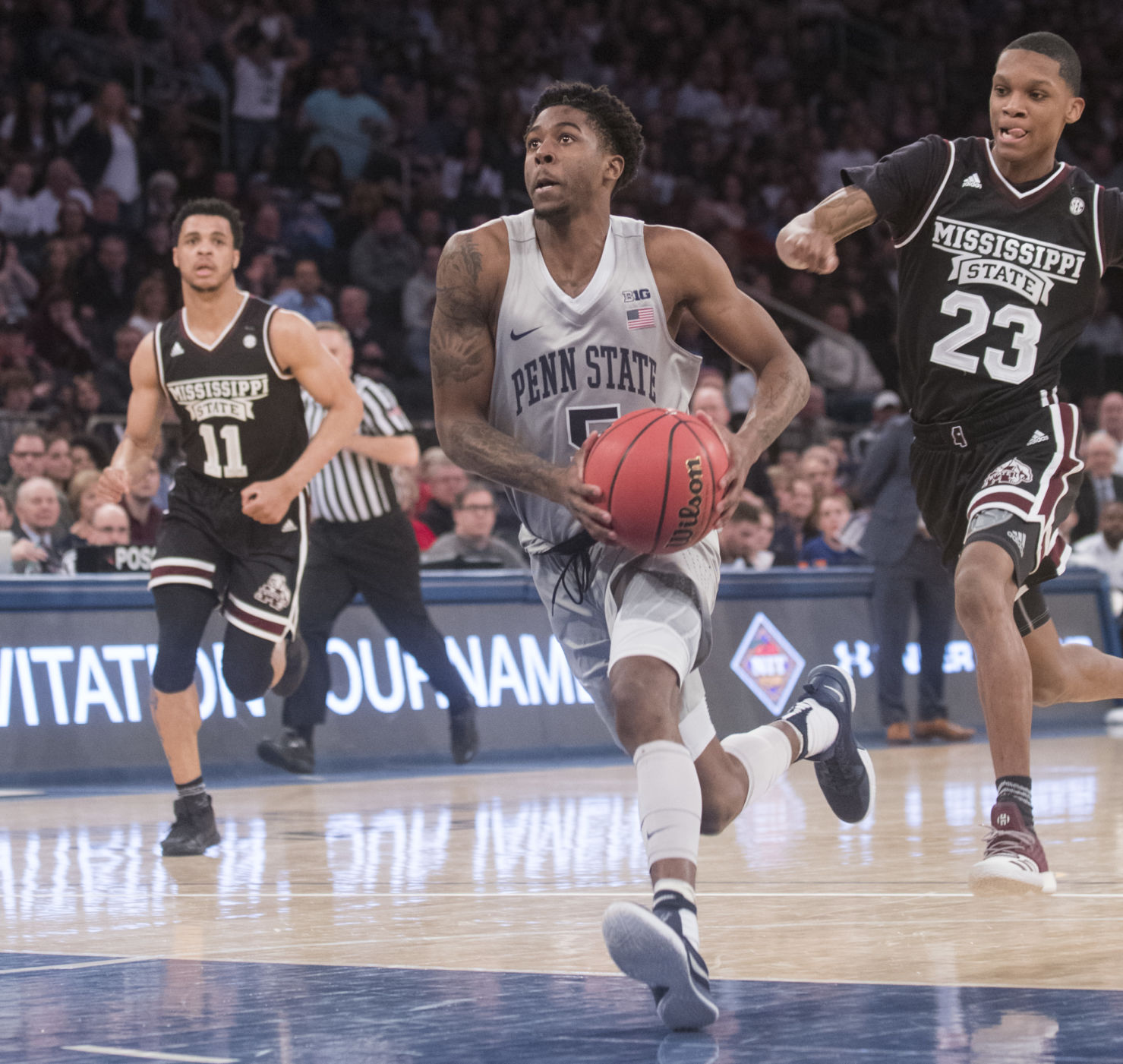 Guard Jamari Wheeler during the NIT Semifinals game at the Madison Square Garden.