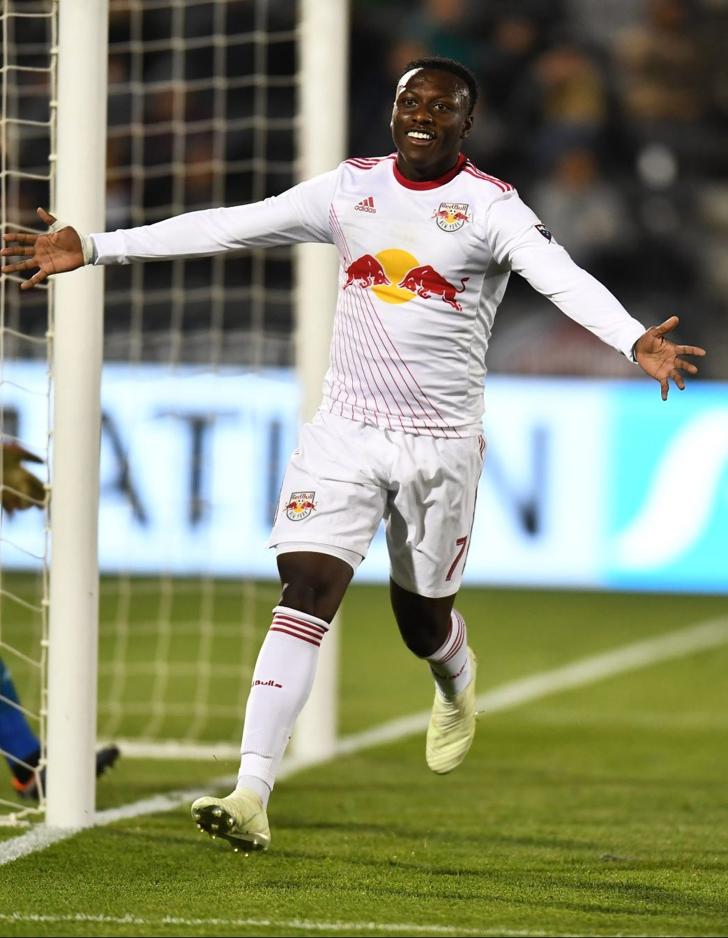 Derrick Etienne Jr. celebrates after scoring the game winning goal against the Colorado Rapids Saturday Night