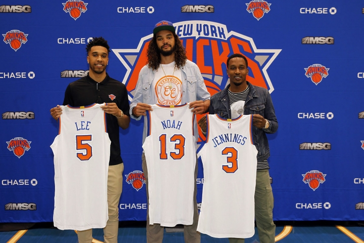 (Credit: Getty Images) L to R: Courtney Lee, Joakim Noah, and Brandon Jennings