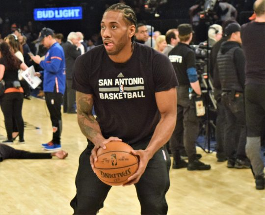 (Photo Credit: Barry Holmes) Leonard torched the Knicks for 36 points Sunday afternoon.